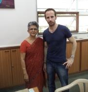Arya Vidya Mandir VCW Mrs. P. Kudva and Mr. M. Vout
